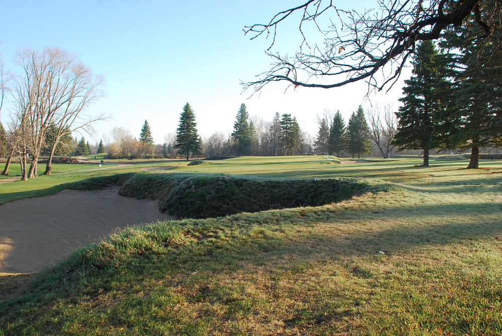 Restored fairway bunker