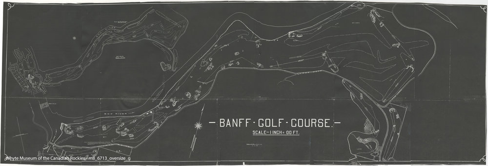 Nothing reveals the genius of Stanley Thompson more than the brilliantly conceived out-and-back routing of Banff Springs Golf Course.  Interesting to study which holes of Ross's Thompson used and which ones he did not.  Ross's holes are the dashed lines.
