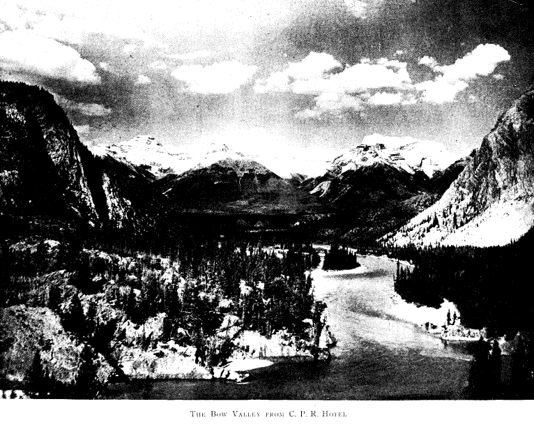 A rare photo from ca. 1905 showing the Bow River and the soon to be Banff Golf Course lands prior to any clearing or construction.