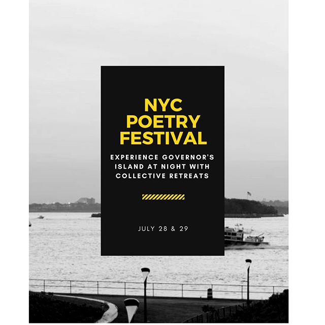 Hello friends! Thinking about spending the night on Governor's Island for NYC Poetry festival, or just love camping? Collective Retreats offers the ability to camp glamorously with amenities and NYC Poetry festival will have fun filled activities for campers.  Last chance to book your luxury tents from Collective Retreats for $50 off.