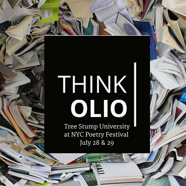Hello friends! Interested in taking a @think.olio class at the NYC Poetry Festival on July 28 & 29. Be sure to sign up at www.thinkolio.org