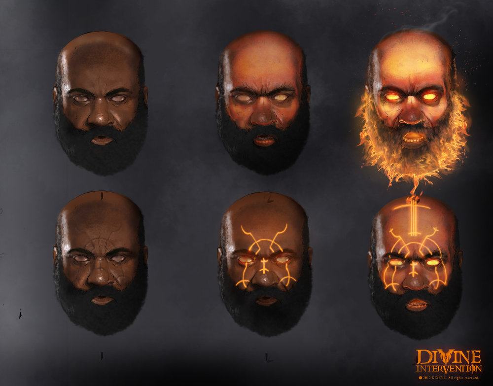 Fire Guy - Concept art for Tome: Immortal Arena