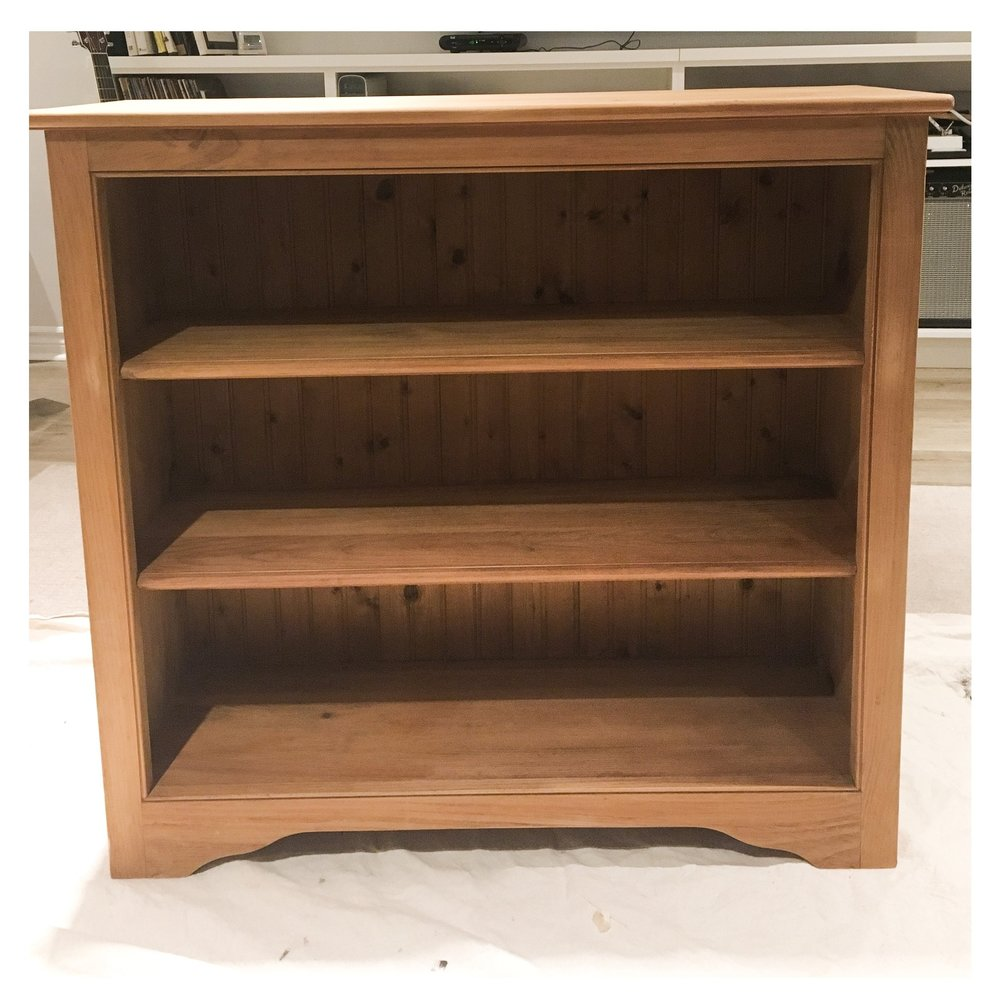 """The """"before""""- solid wood bookcase"""