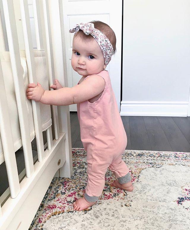 This girl 😍 . #bootd #spring #nursery #baby #handm