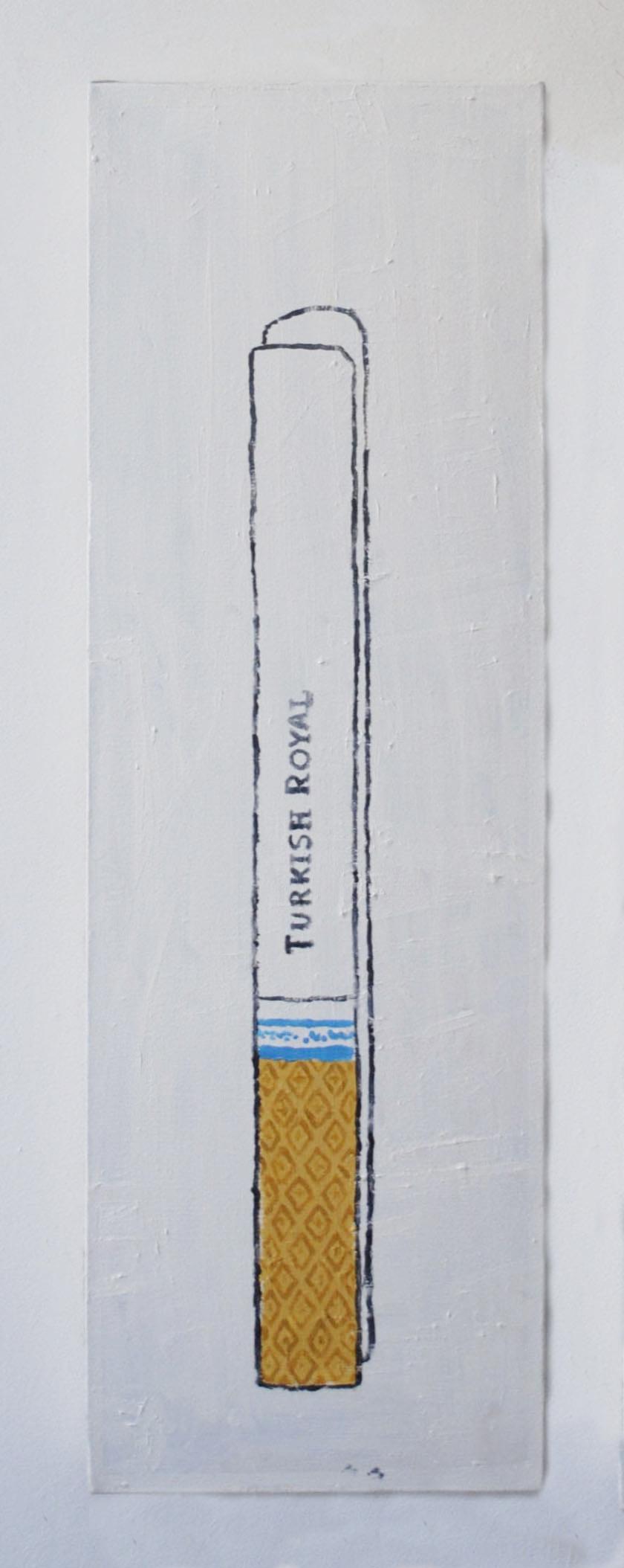 """Royal, acrylic on canvas, 40""""X13""""."""