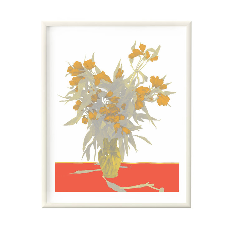 Flower vase white framed jedidiah gallery flower vase white framed mightylinksfo