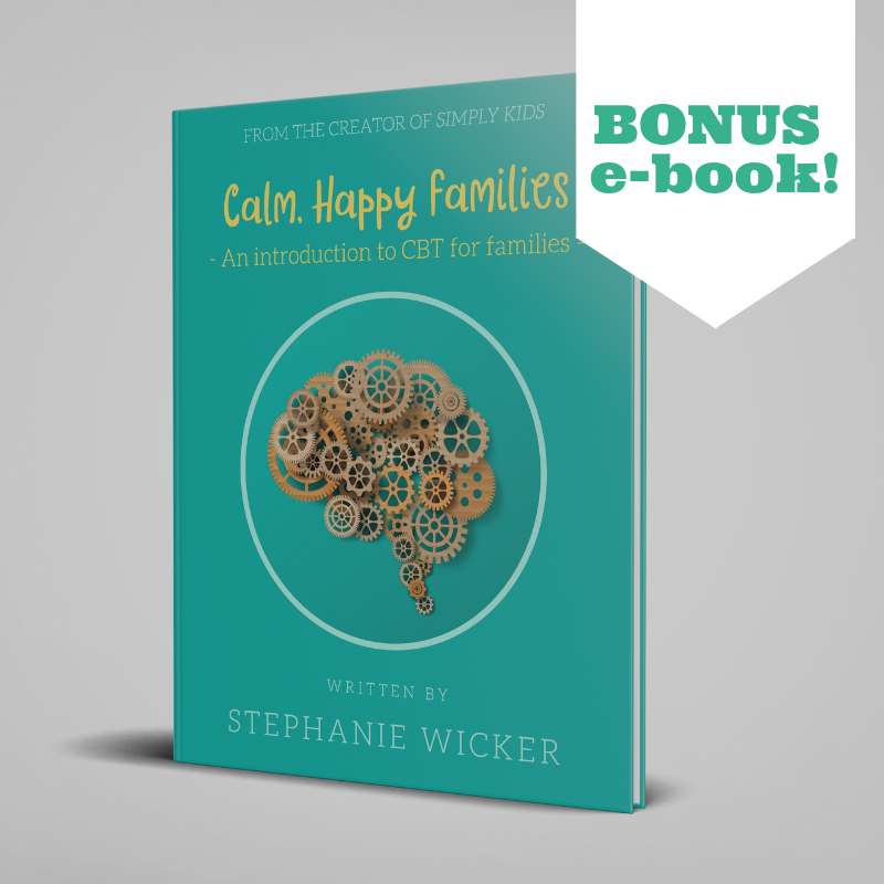 Bonus e-book Calm, Happy Families - An Introduction to CBT for Families when you join!