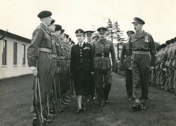 Guard of Honour Commander for HRH Mary The Princess Royal 1952