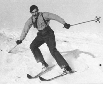 Arthur used his skiing skills to train a special ski regiment during the war.