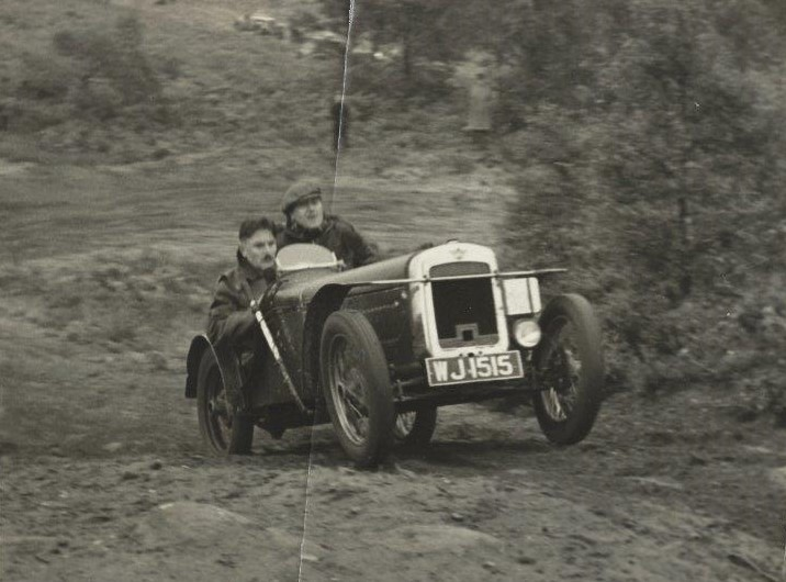 WJ1515 now as a trials car in about 1950.