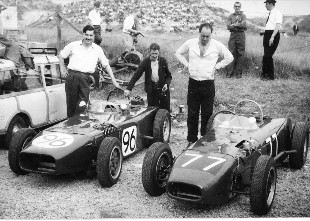 1960 MK2 - Formula Junior, 1172 Formula and sports racing car. Two were built as Formula Juniors (for Arthur and John Harwood) and approximately 10 for 1172 Formula and sports car racing, some of these chassis were also used in Formula Junior during 1961 & 1962The design retained the Ford Popular central pivot front axle system, the rear axle was now from Morris  Minor but still using Austin 7 ¼ elliptic rear leaf springs. Both 1960 Formula Juniors used Ford 105E engines mated to Austin Healy Sprite gearboxes.