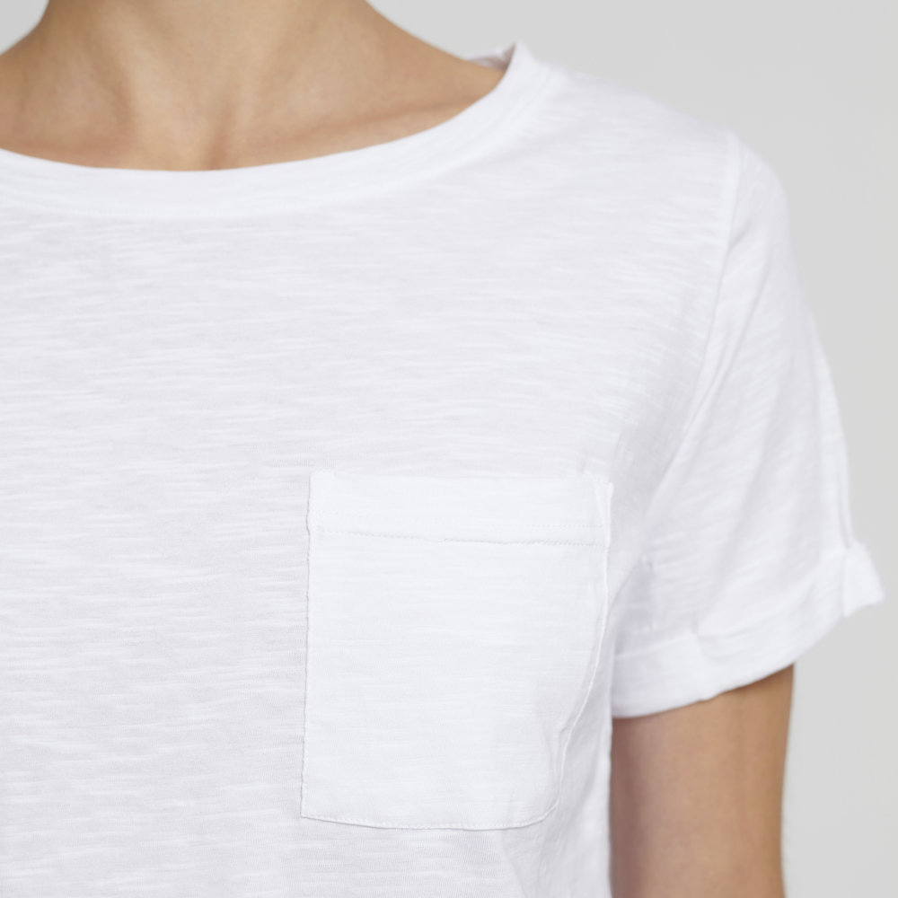 white pocket tee / large only from Silfir