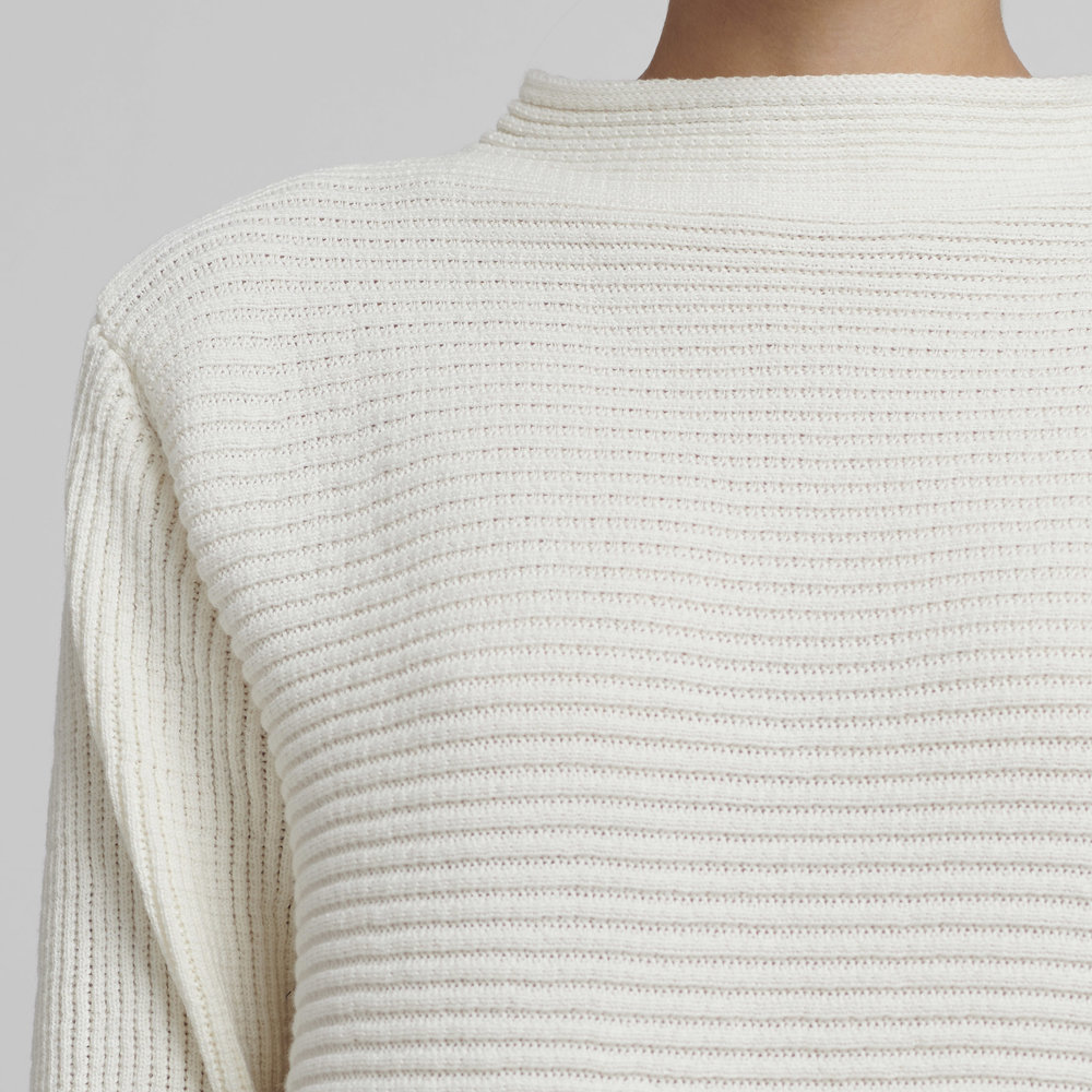 white cotton sweater / large only from Silfir