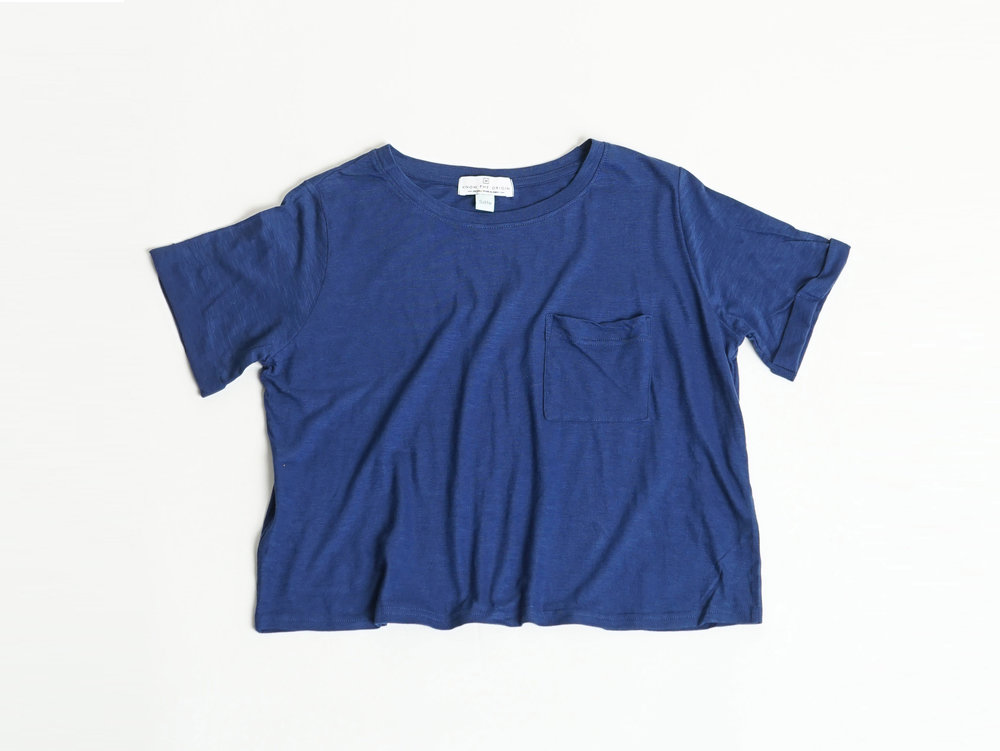 NIGHT BLUE POCKET TEE - €25