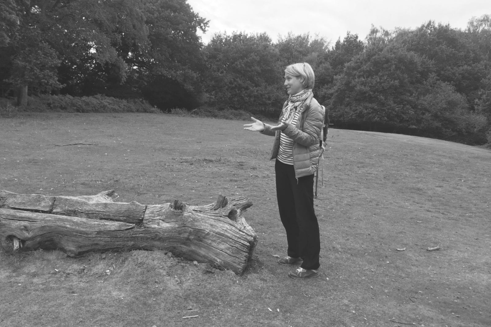 sophie in the woods black and white.png