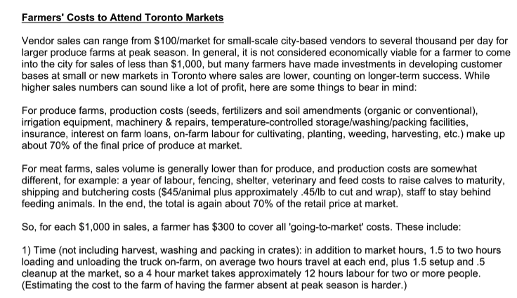 The Greenbelt Farmers' Market Network offers this excellent resource for producers.  Click to download this Word documen t.