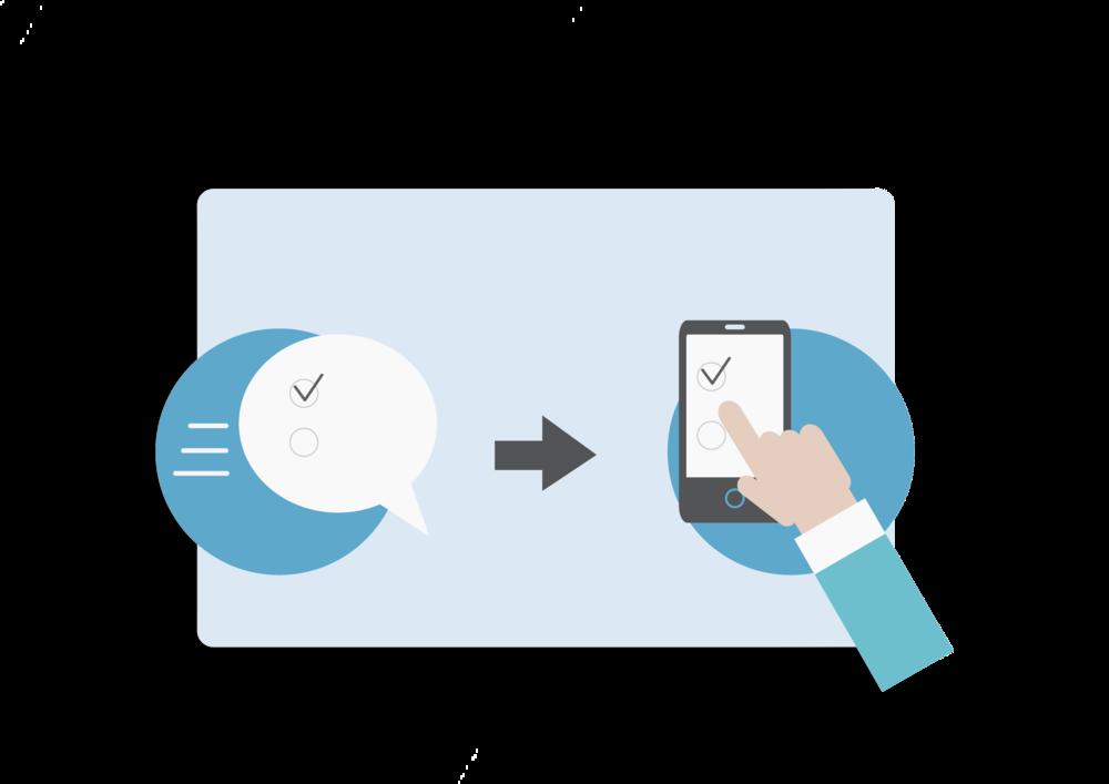 Förberedelse - · Bestäm din enkät-population· Skapa och anpassa utseende till egen verksamhet (färg och logotyp)· Utforma multipla frågeformulär beroende på målgrupp· Automatisera utskick via SMS efter besöket