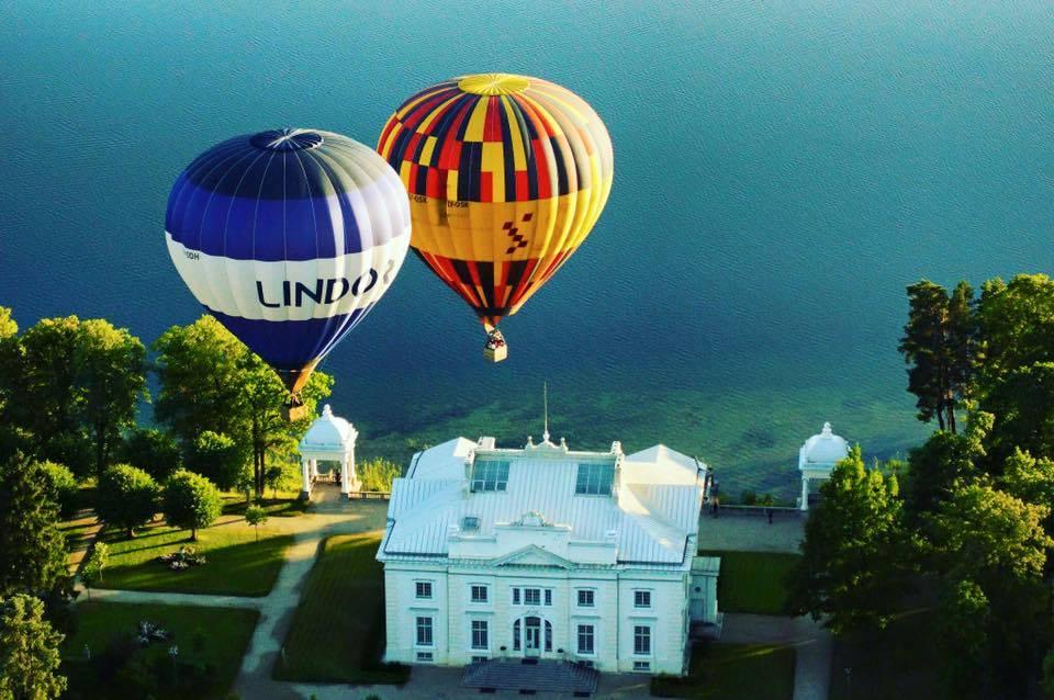Skrydis oro balionu Birštone, Alytuje, Kaune