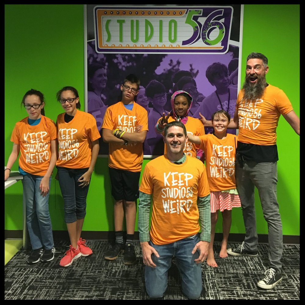These shirts were a gift to the kids on the weekend of the launch for Studio 56.