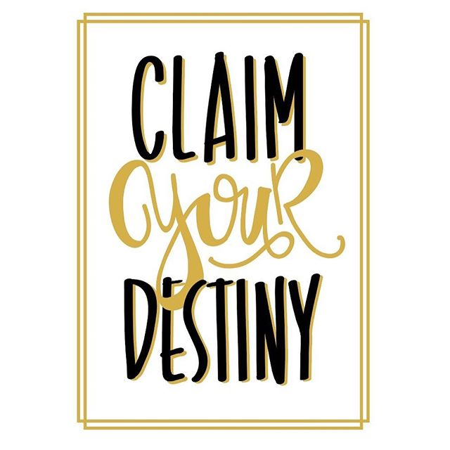 "Claim Your Destiny! 📙 Pumped to partner with our local middle school. They are doing the One School, One Book campaign promoting literacy. The whole school will read this book! We are raising funds through custom apparel! This design is inspired by the book ""Moving Target"" by Christina Diaz Gonzalez. She is coming to the school you guys! Isn't that awesome!? The sales of these shirts help the PTA bring her to the school to speak, helps purchase this book for EACH student and helps fund activities that promote literacy. #winwin 📕 This design features my handwriting and is printed in a metallic black, metallic gold and metallic red. Yaaasssss. 📙 These are super soft shirts and fleece (shown on their website). Our librarian asked for a hood-less hoodie and I was super excited that @nextlevel.apparel has an ultra-soft pocket fleece plus you have to love the black with mustard yellow raglan tee!! 📕 #handwriting #customapparel #claimyourdestiny #oneschoolonebook #nextlevelapparel #movingtarget"