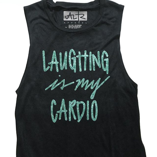 Have you laughed today yet? What are you doing to protect your joy?  I love this tank and always get a workout when I'm laughing with friends. It's the best ab workout!  #alifethatsradical #laughingismycardio  #laughoutloud