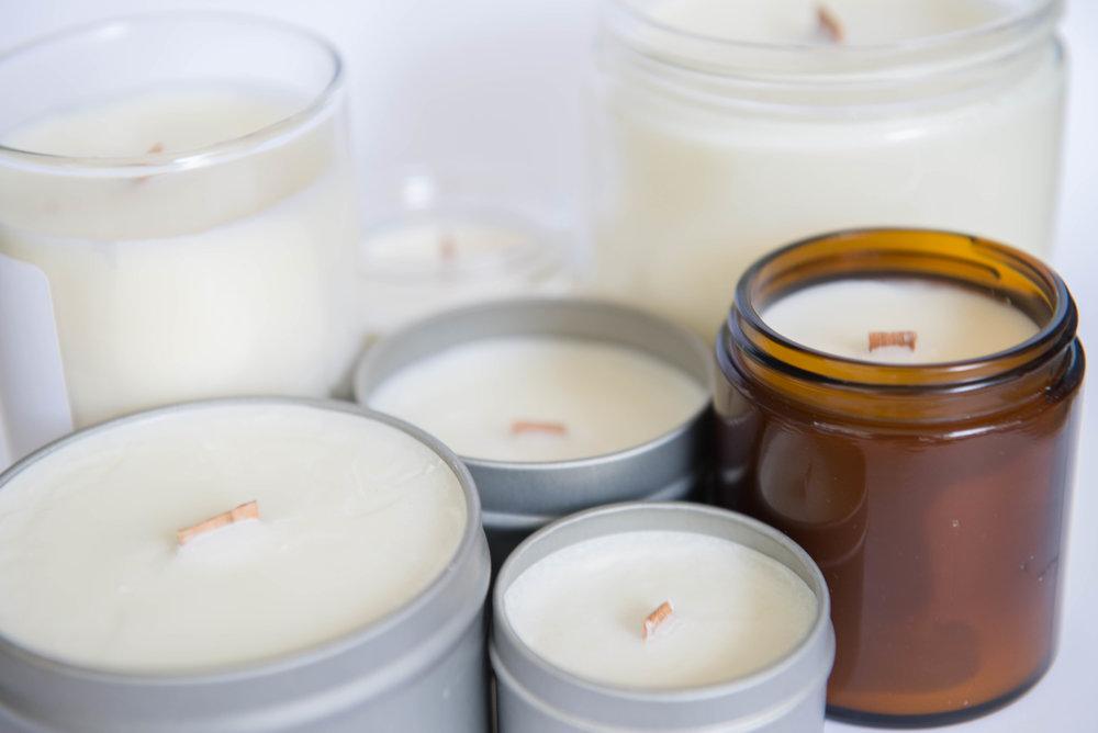 865 Candle Company Burning Candle Sizes and Shapes