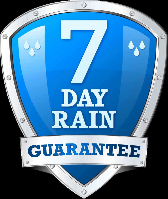 7 Day Rain Guarantee Badge