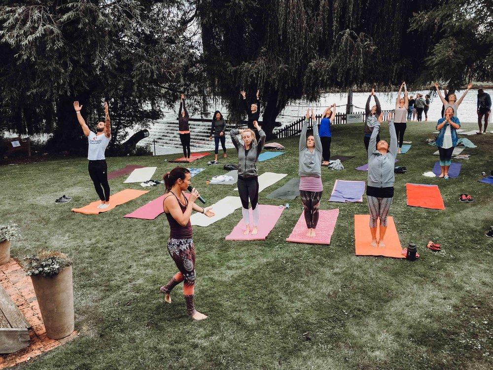 yoga garden party London