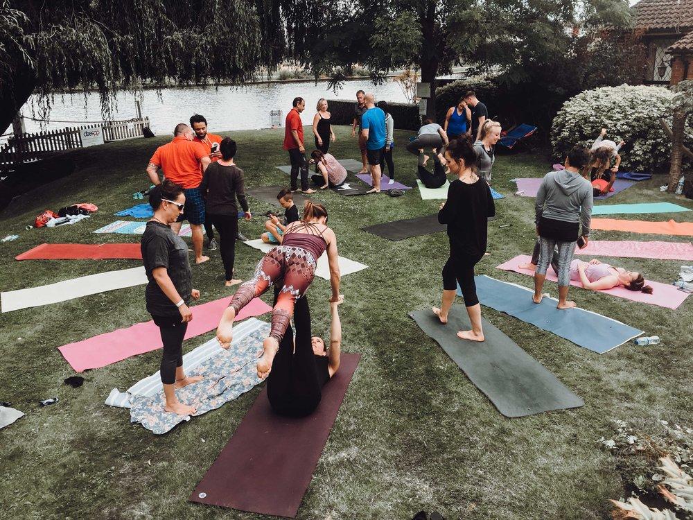 yoga garden party