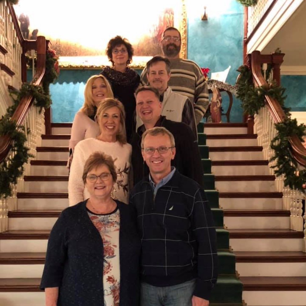The Elder Team at VFC have been together for more than 20 years. From front to back:  Lonnie and Carolyn Parton  Jim and Teresa Nichols  Scott and Debbie Maskell  Rick and Faye French