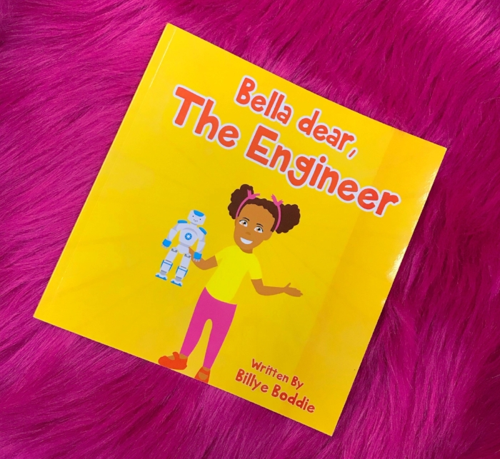 """Our children should dream with no limits! My new book  """"Bella dear The Engineer""""  was created to expose children to basic engineering principles and gain confidence.  Grab your copy today!"""