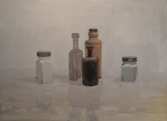 Tower, Bottles <br> 34h x 46w in