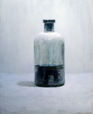 Glass Jar with Blue Cork <br> 32h x 26w in