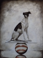 Dog on a Ball #39 <br> 48h x 36w in
