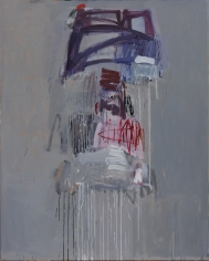 Making A Mark - Pink on Grey No. 2 <br> 60h x 48w in