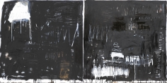 Making A Mark, Black & White Series III <br> 48h x 96w in