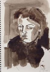 Sketch Book IV #21 Modern Muse <br> 12h x 8w in