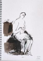 Sketch Book IV #27 <br> 12h x 8w in