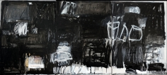 Making a Mark, Black & White <br> 48h x 108w in