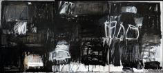 Making a Mark, Black & White <br> 48h x 108w in