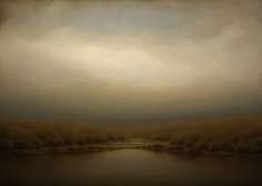 Morning Clouds Over Lake <br> 44h x 60w in