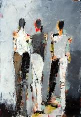 Three Figure Study No. 19 <br> 22h x 15w in