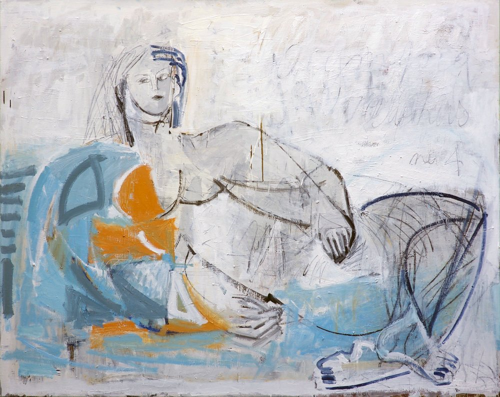 Bathers No. 4 <br> 48h x 60w in
