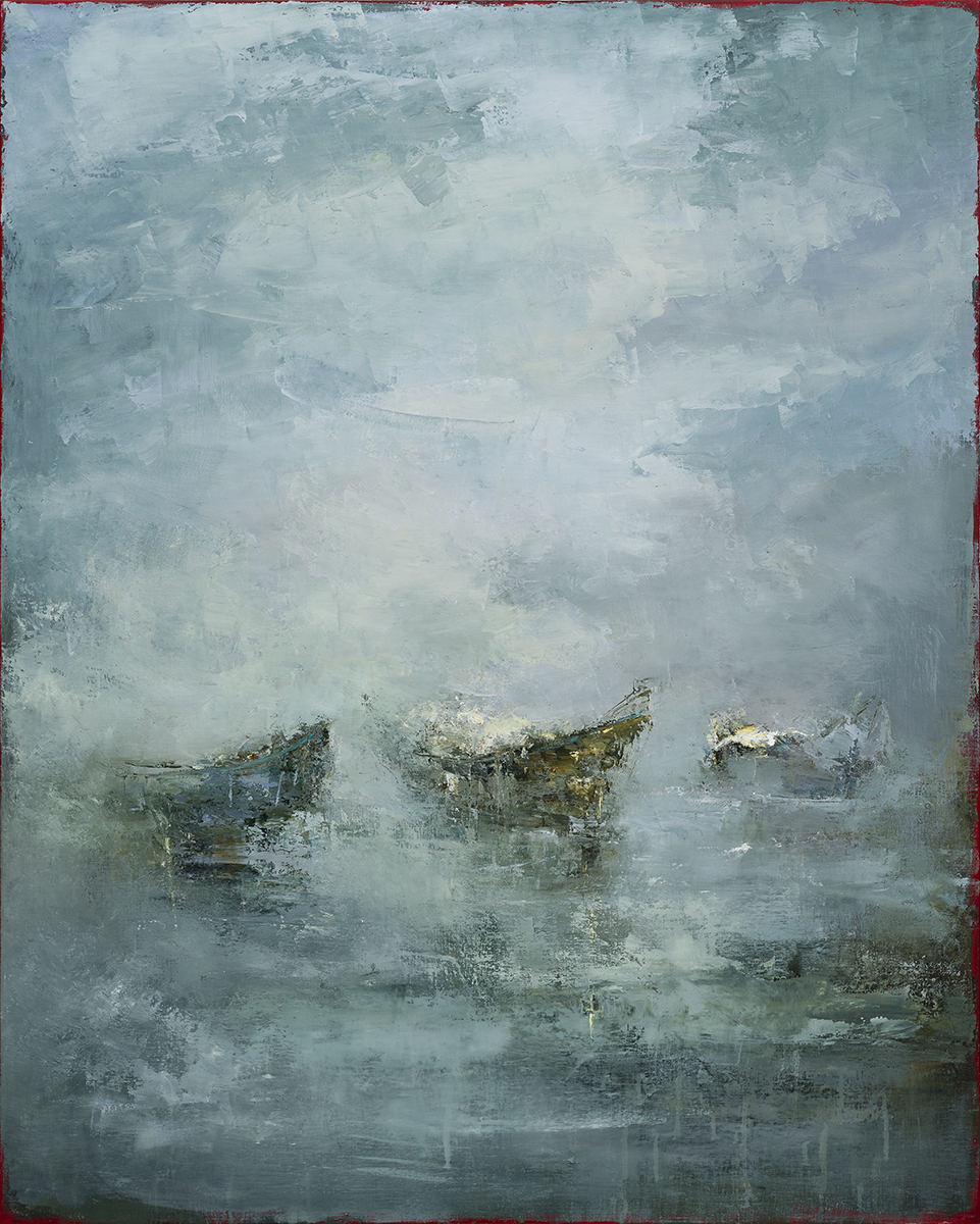 JODOIN_The waterlilies fill with rain, spilling water into water_60 x 48_oil on linen_6,380 USD (UF).jpg