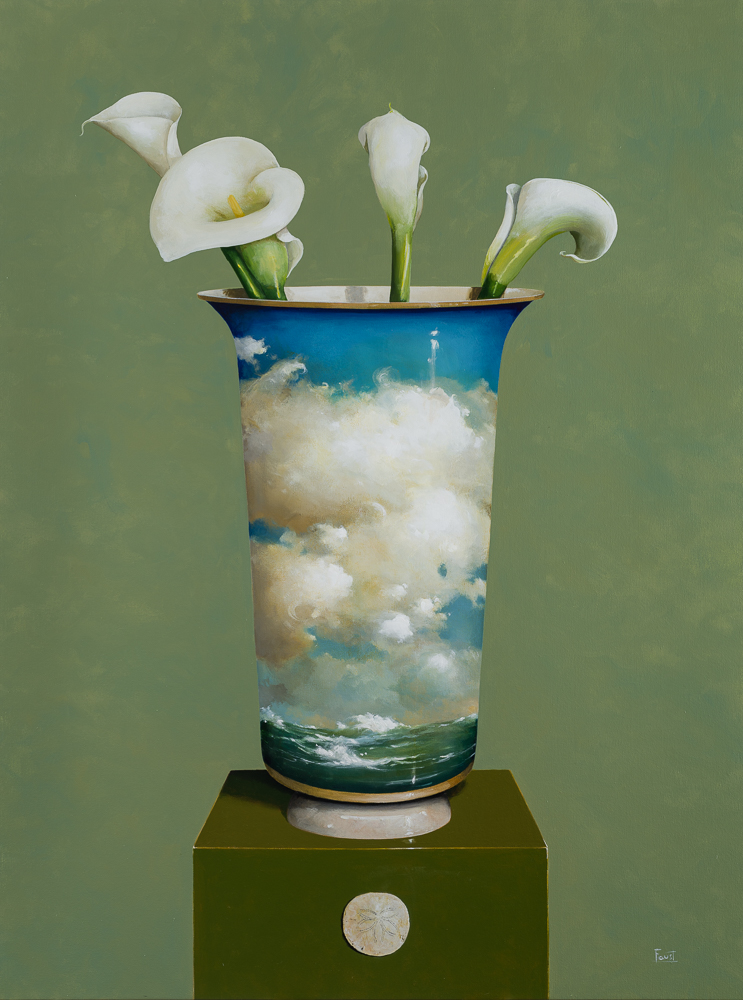 Lilies for the Sea <br> 48h x 36w in