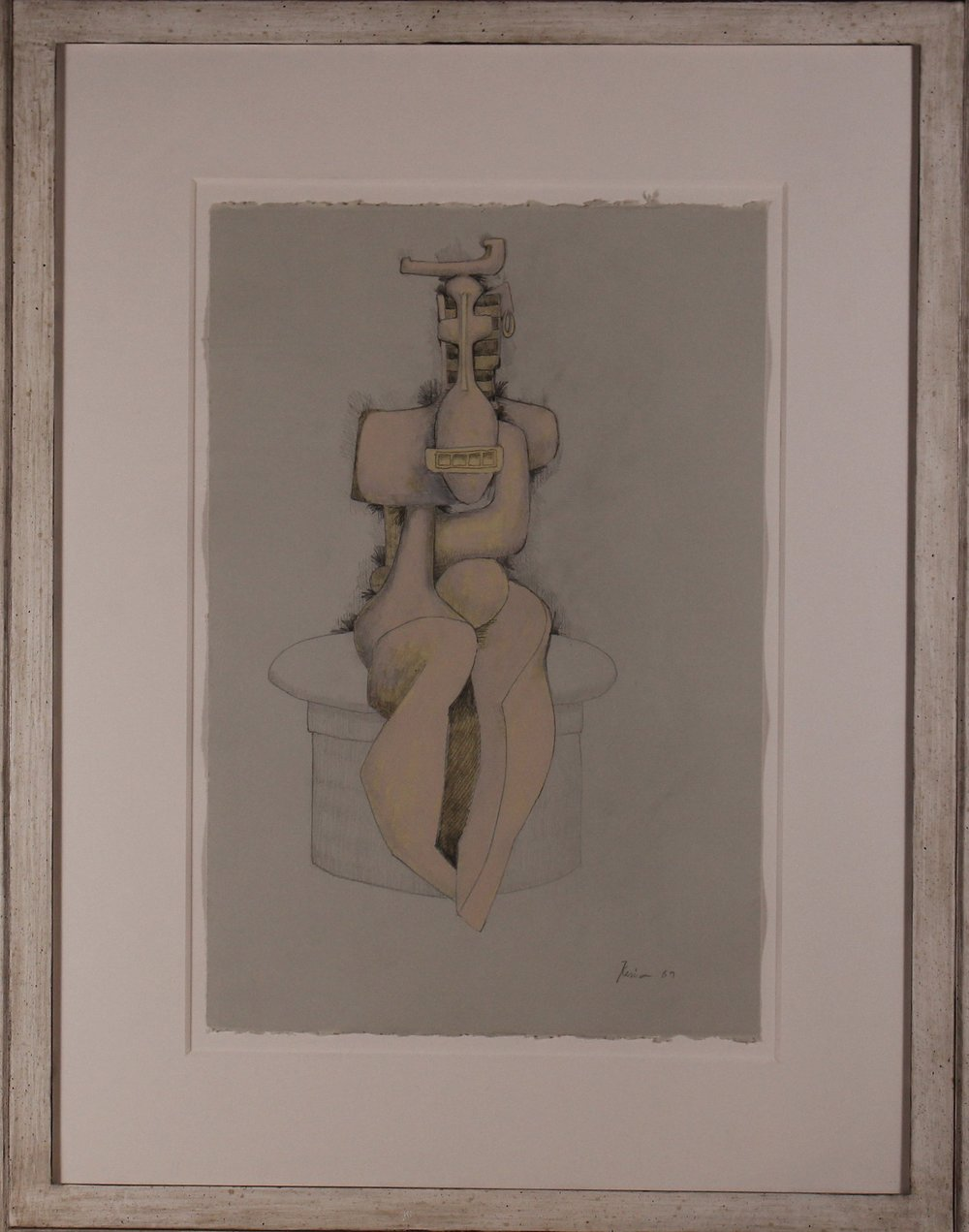 Seated Study, Pink 22h x 15w in.JPG