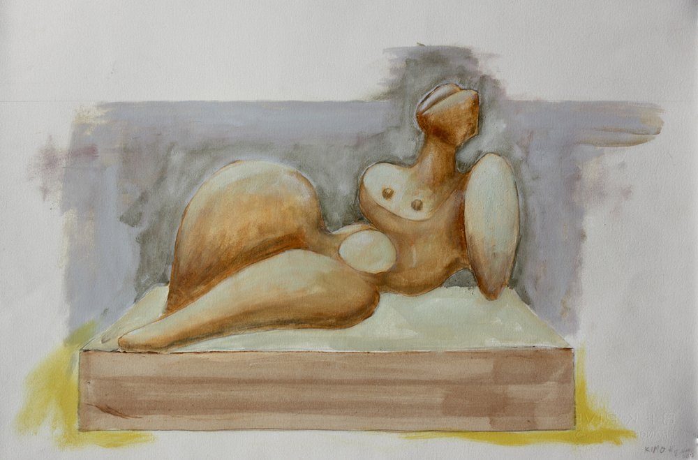 Plan for Reclining Nude