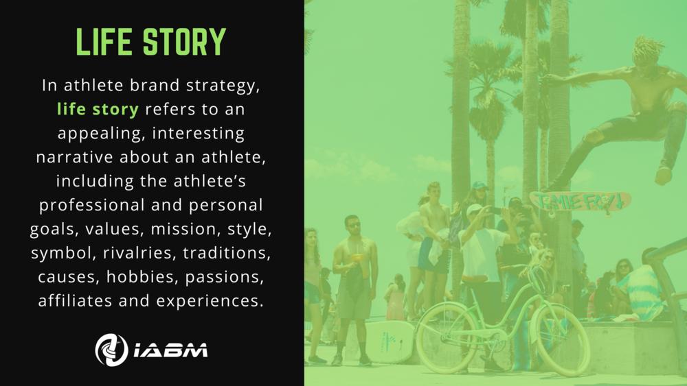 Athlete Brand Life Story