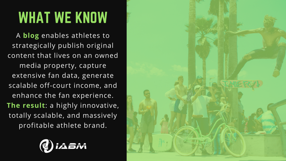 Blogging for Athletes