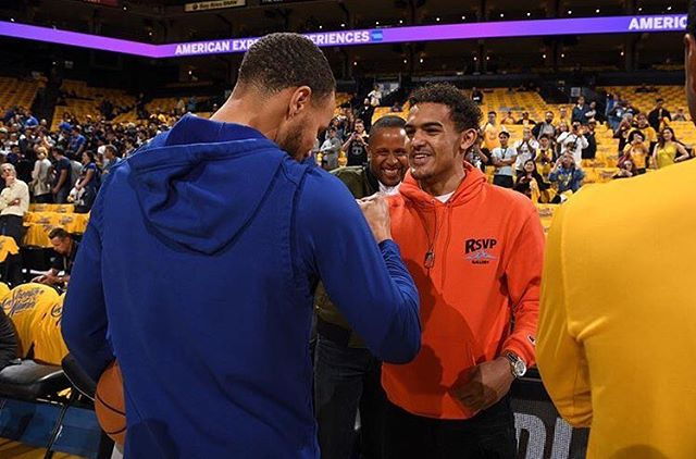 Athletes are fans, too. Show the people who make you giddy, and you'll instantly become more relatable. Half human, half hero. Well done @traeyoung 👏 #TheCompletePlayer